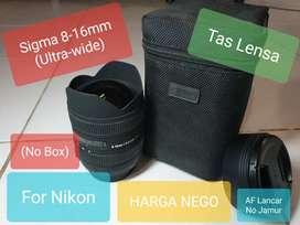 Sigma 8-16mm F4.5-5.6 DC HSM For Nikon