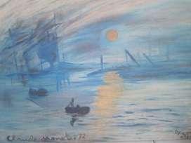 Lukisan Repro Sunrise by Cloude Monet