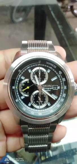 Seiko cronograph Batrei body 45mm all stenlis stell super