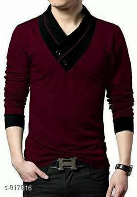 Stylish cotton solid men's t-shirt