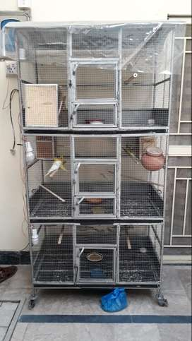iron pipe handmade cage/wood cage