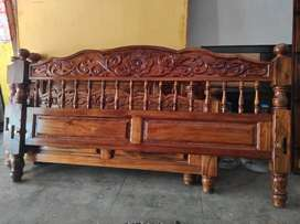 New one country teak  king size heavy type wooden cot