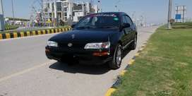 Toyota corolla 2od black colour good condition personal use car.