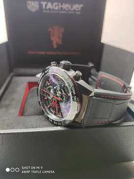 Tag Heuer NEW CARRERA Cal HEUER 01. MANCHESTER UNITED Ed Original.