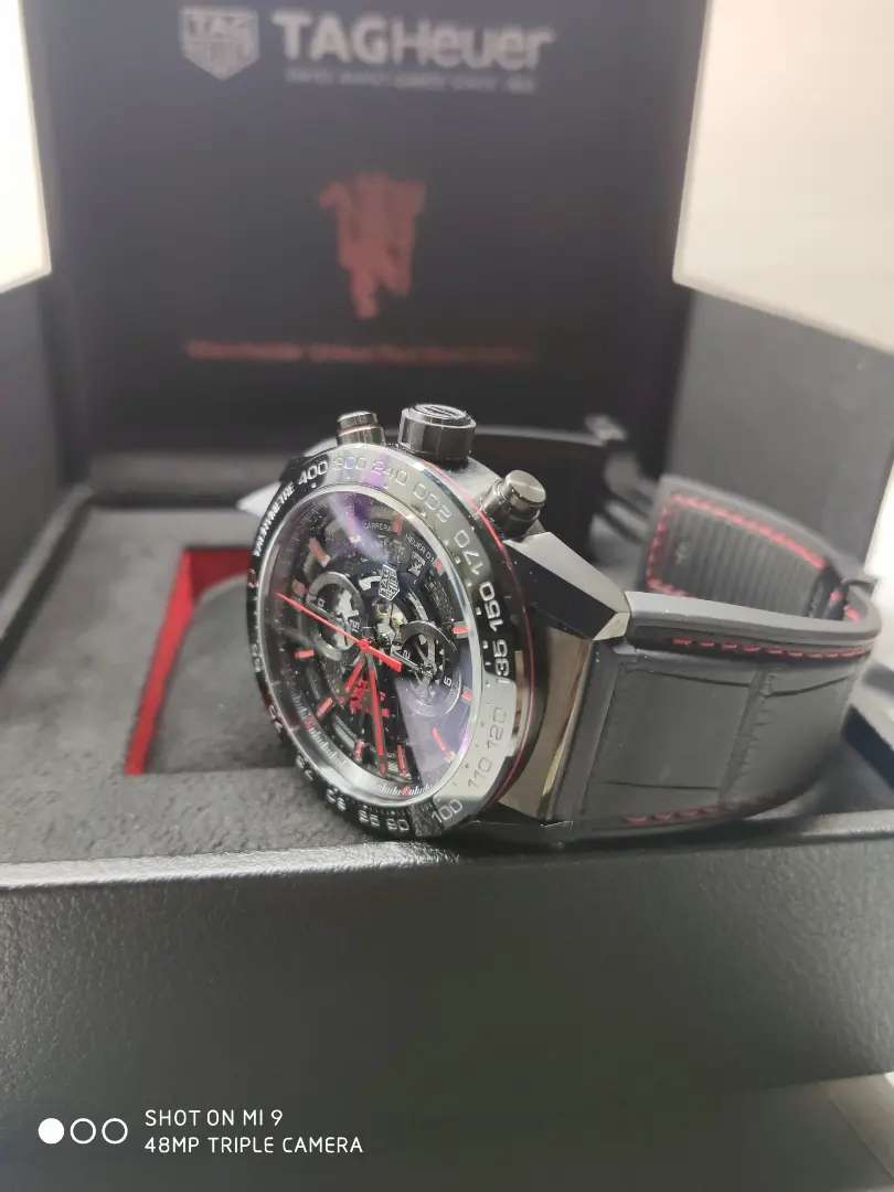 Tag Heuer NEW CARRERA Cal HEUER 01. MANCHESTER UNITED Ed Original. 0