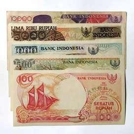 Uang lama Indonesia Baru Dan bekas msh bagus