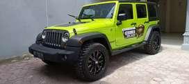 Jeep wrangler hijau