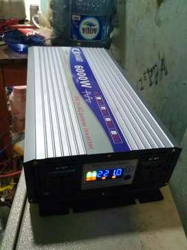 Power Inverter Pure Sine Wave 6000W 24V DC to 220V AC 50Hz Converter