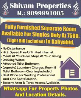 Fully Furnished rooms for singels only includes all the eminities