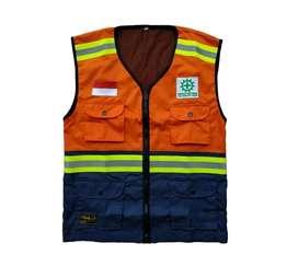 Rompi proyek/safety vest/rompi safety bahan drill dengan reflective