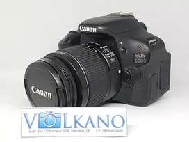 Canon 600D fullset SC rendah muluss murahh