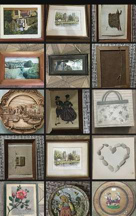 UK imported High Quality Unique wall hangings photos frames sceneries