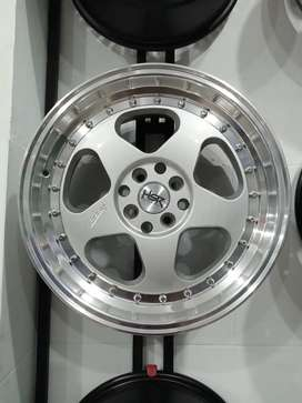 Velg mobil racing R17 HSR Loud Ring 17 Pcd 4x100 & 4x114,3 Jazz Yaris