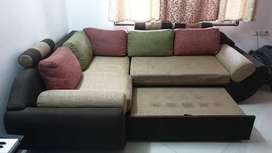 L shape sofa cum bed Up for sale in Kharadi pune