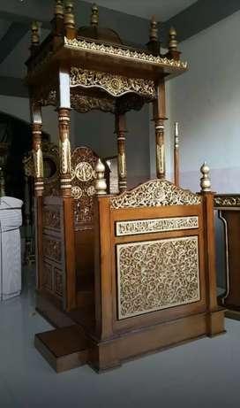 Mimbar masjid Jepara 100% jati