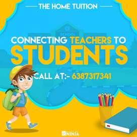 घरों में पढ़ाने के लिए टीचर्स उपलब्ध है।।
