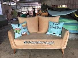 sofa tamu ,, custom model,,sofa dobel sandarn