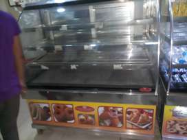 2 no  commercial show caseHot n cold firdge good running condition