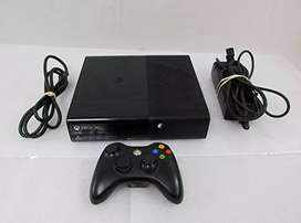 Xbox 360 e with 3 original game cds.