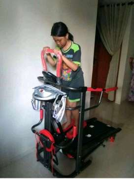 Treadmil ManuaL msp 7fungsi super sport//Galaxy alat fitnes ready