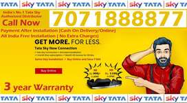 Tata Sky Sd/Hd New Dish Tv Tatasky DTH Airtel Tv (6 Month Free) Dishtv