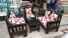 1 set kursi tamu kayu mahony 221