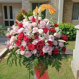 STANDING FLOWER CONGRATULATION FRESH FLOWER JAKARTA TANGERANG PIK  BSD