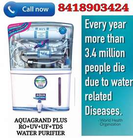 ONLY NEW AQUAGRAND PLUS RO+UV+UF+TDS WATER PURIFIER