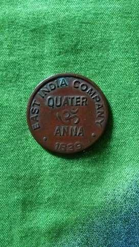 Quarter Anna 1839
