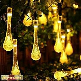 LED water drops rain string lights