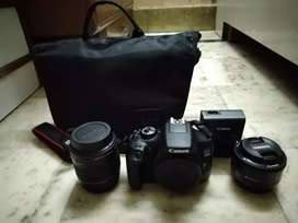 Canon 1300d With 2 lenses New