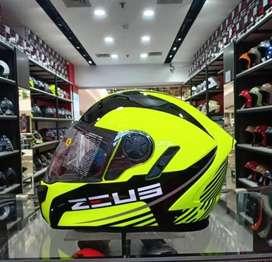 Helm Zeus 813 Fluo Green An6 Fullface XL