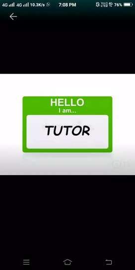 Female  Tution teacherNursery to 7 class.Machuatoli