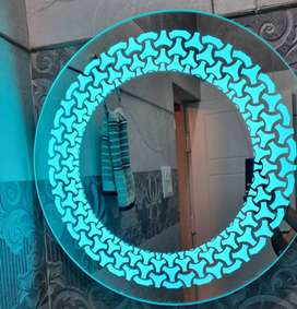 Wall mirror with led light