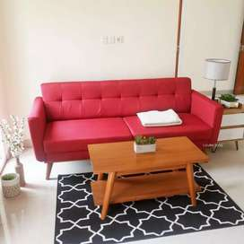 Sofa minimalis retro panjang