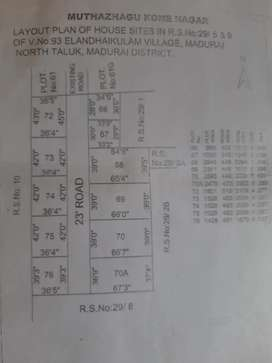 Vacant residential plot in valar nagar