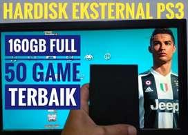 HDD 160GB Terjangkau Mantap FULL 50 GAME KEKINIAN PS3 Siap Dikirim