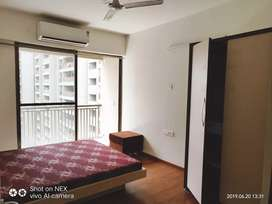 Sky luxuria Society 2bhk flat fully furnished availableon rent plz cal