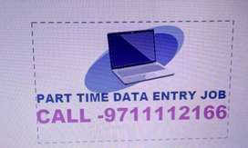 Simple DATA ENTRY work Part time HOME BASE job EARN 4500 to 8000/-JOIN