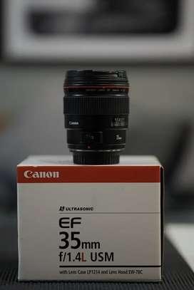 Canon EF 35MM F1.4L USM Komplit