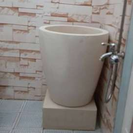 bak mandi gelas bali Terazzo marmer
