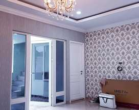 Wallpaper dinding nuansa mewah bahan terbaik