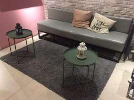 Sofa bench panjang kaki metal