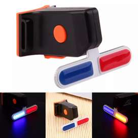 4 Modes Red Blue Bike Night Cycling Rear Light Police LED Taillight US