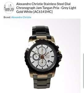 Jam tangan alexandre christie mulus seperti baru bergaransi resmi