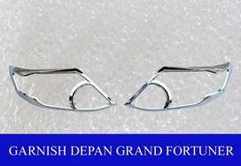 garnish depan chrome grand new FORTUNER ( kikim variasi paris )