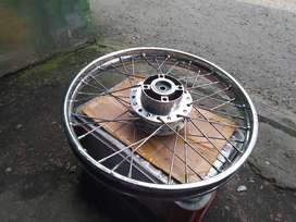 Velg Jari-jari Satu Set Disk Belakang + Tromol Motor Supra X 125
