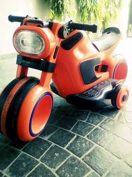 Battery operated rechargeable kids bike and car