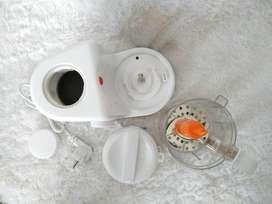 promo - baby safe baby food maker steam, blend, server mesin makanan