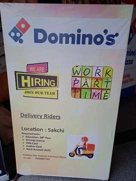 Dominos hiring delivery boy